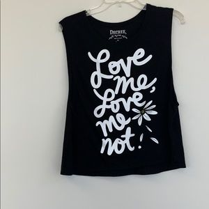 Decree, Black muscle shirt with white writing